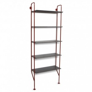 hitch-modern-bookcase-red-legs-smoke-shelves-angle