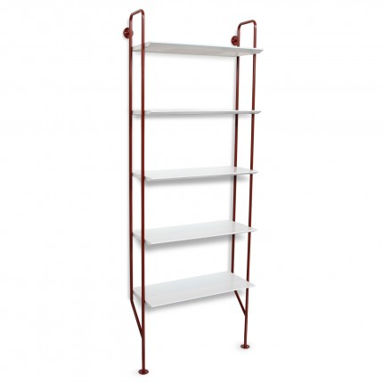 hitch-modern-bookcase-red-legs-white-shelves-angle