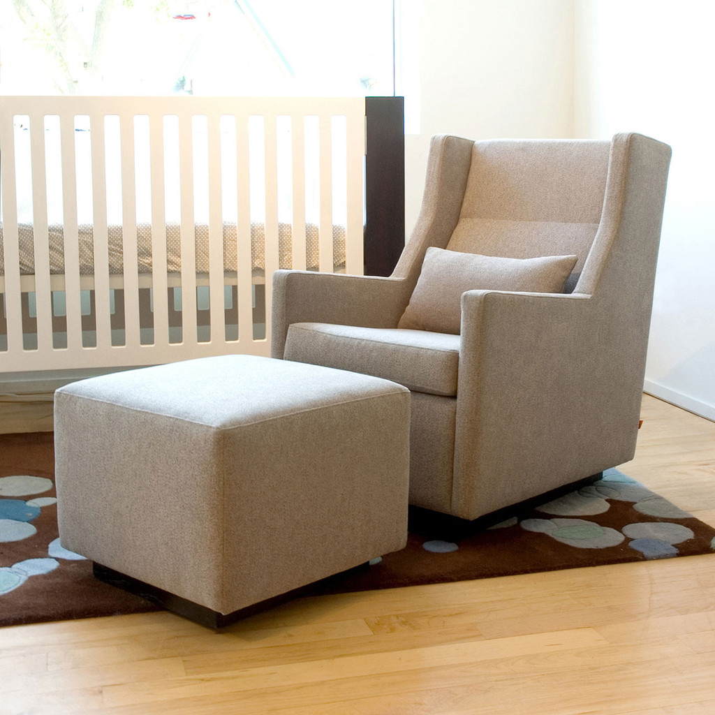 Gus Modern Sparrow Glider Amp Ottoman Grid Furnishings