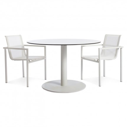 Skiff Outdoor Modern Cafe Table Large With Chairs