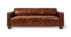 Gus Cabot Sofa Saddle Brown Leather