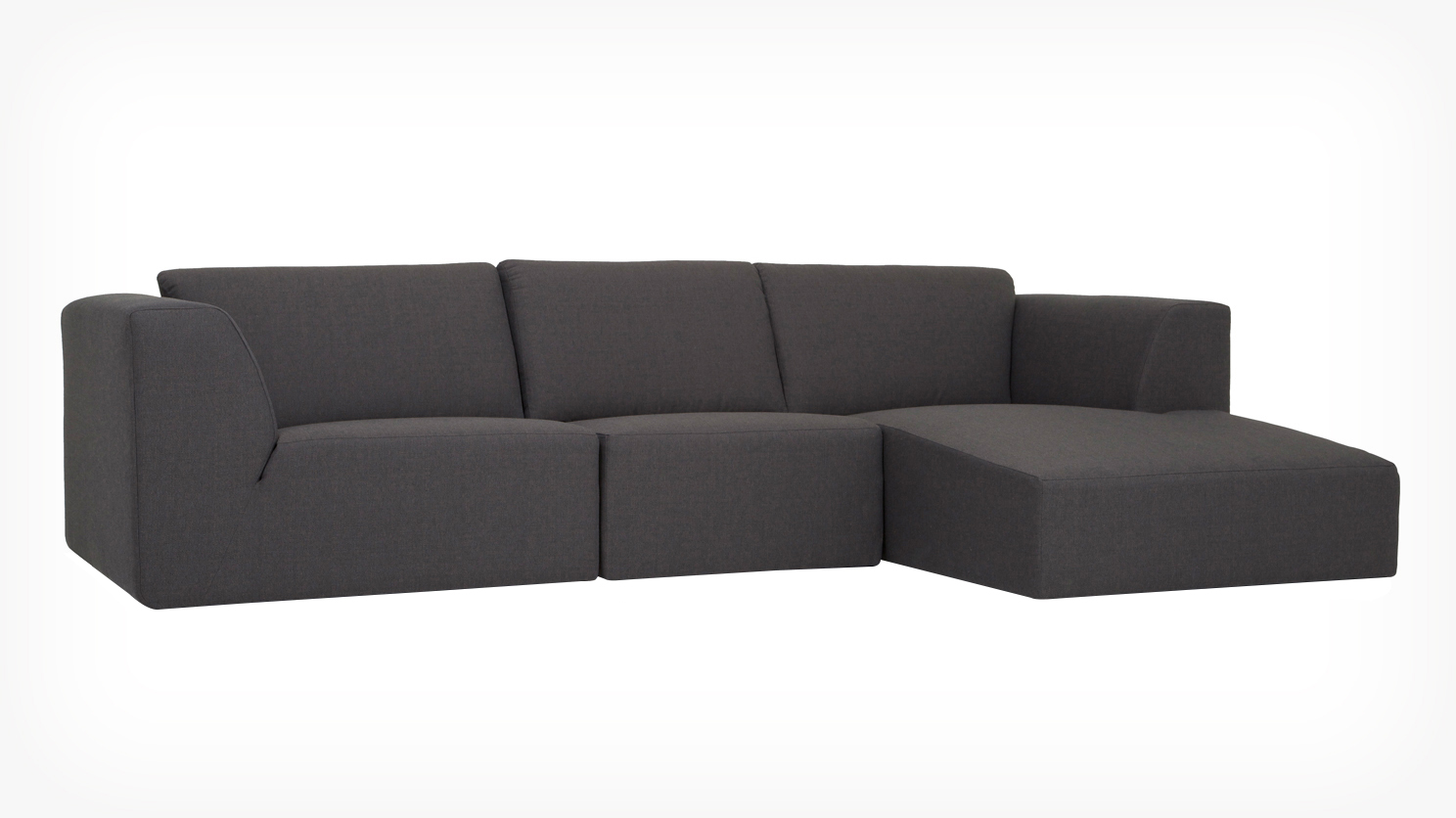 Eq3 Morton Modular 3 Piece Sectional Grid Furnishings